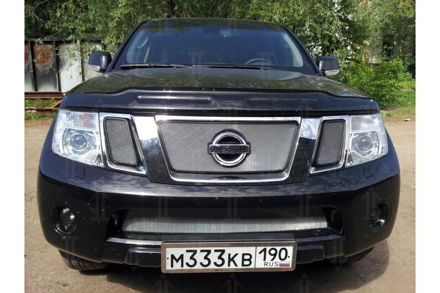 Защита радиатора Nissan Pathfinder (NAVARA) 2011-2012 chrome верх