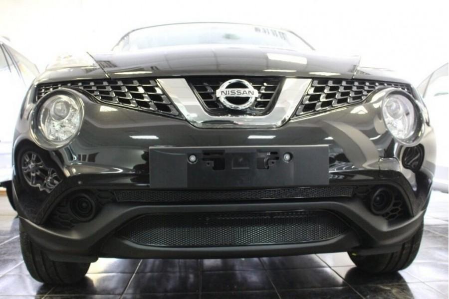 Защита радиатора Nissan Juke 2014- black середина