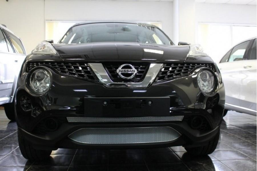 Защита радиатора Nissan Juke 2014- chrome середина