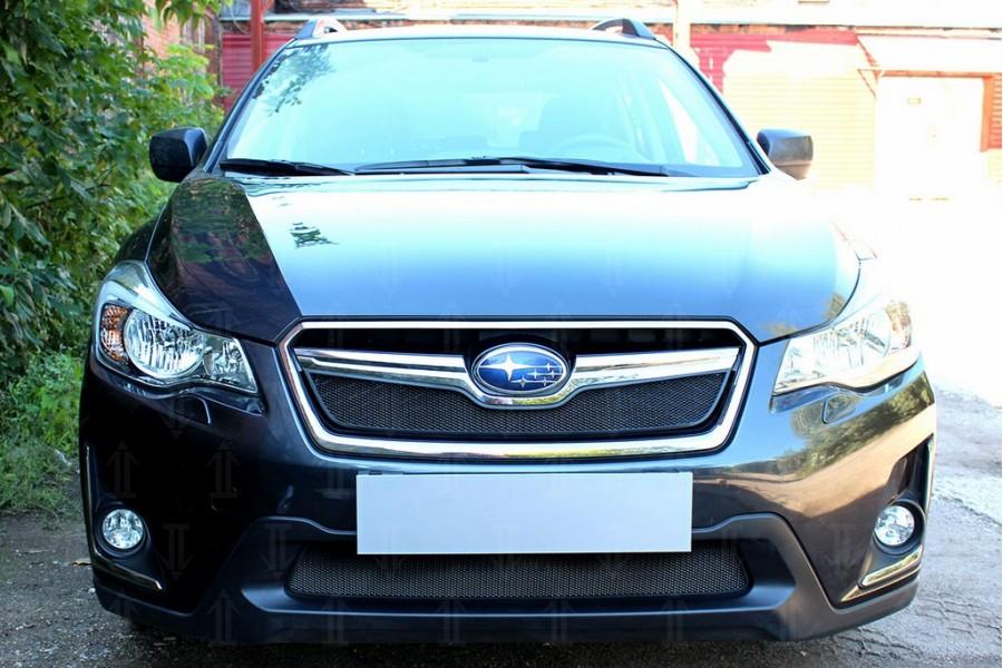 Защита радиатора Subaru XV (рестайлинг) 2016-2017 black низ