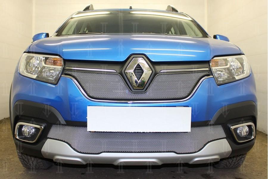 Защита радиатора Renault Sandero Stepway 2018- chrome низ