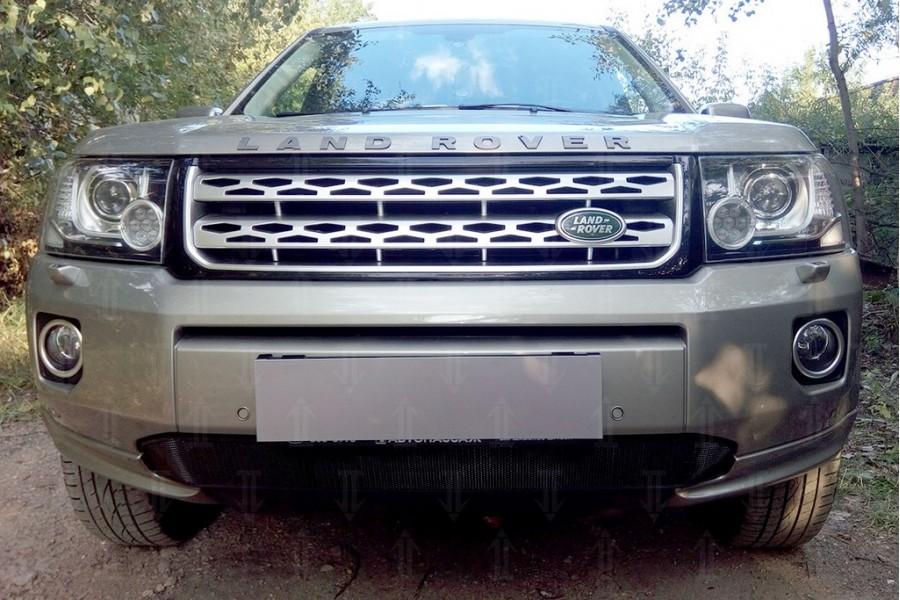 Защита радиатора Land Rover Freelander II (рестайлинг 2) 2012- (бензин) black