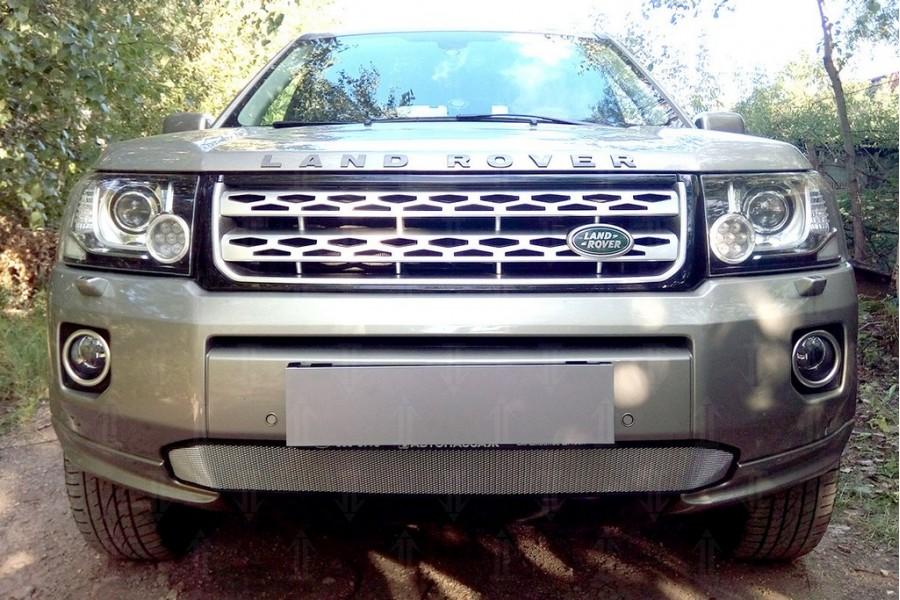 Защита радиатора Land Rover Freelander II (рестайлинг 2) 2012- (бензин) chrome