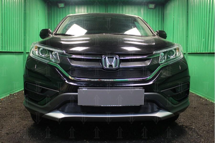 Защита радиатора Honda CR-V IV 2015-2017 2.0 black низ