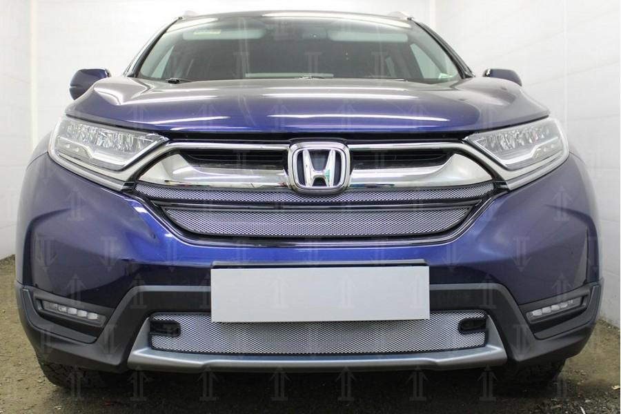Защита радиатора Honda CR-V V 2016- (2 части) chrome верх