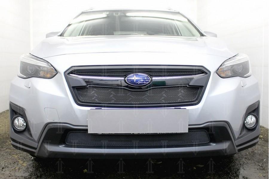 Защита радиатора Subaru XV 2017- black низ