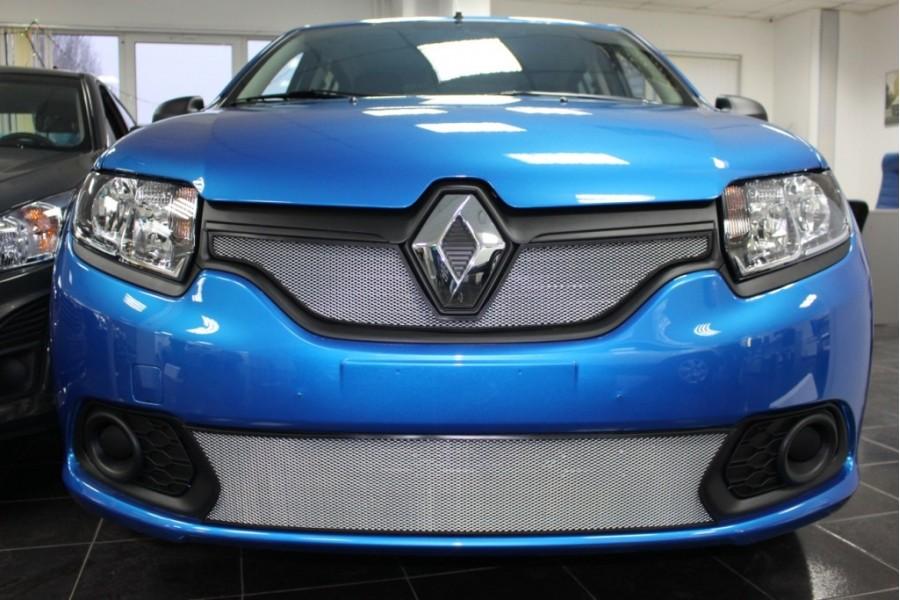 Защита радиатора Renault Sandero 2014-2018 chrome низ