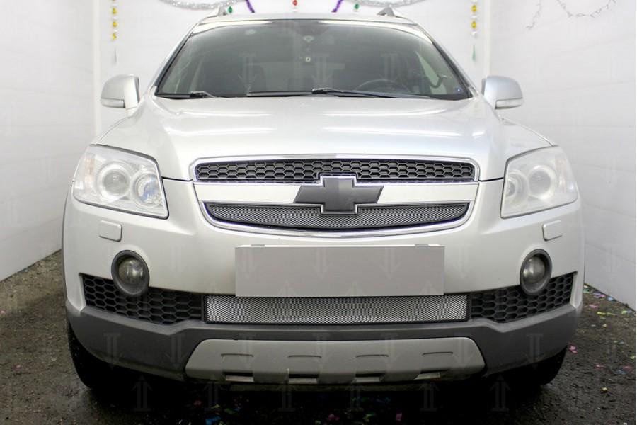 Защита радиатора Chevrolet Captiva 2006-2011 chrome верх