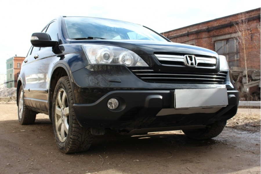 Защита радиатора Honda CR-V III 2007-2010 chrome