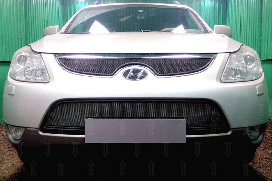 Защита радиатора Hyundai IX55 2009-2013 black низ