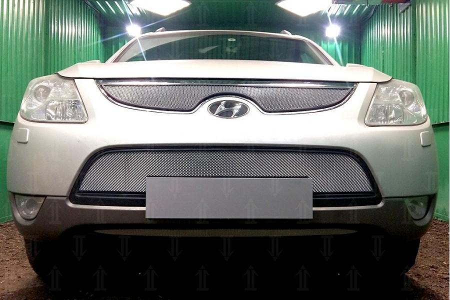 Защита радиатора Hyundai IX55 2009-2013 chrome верх