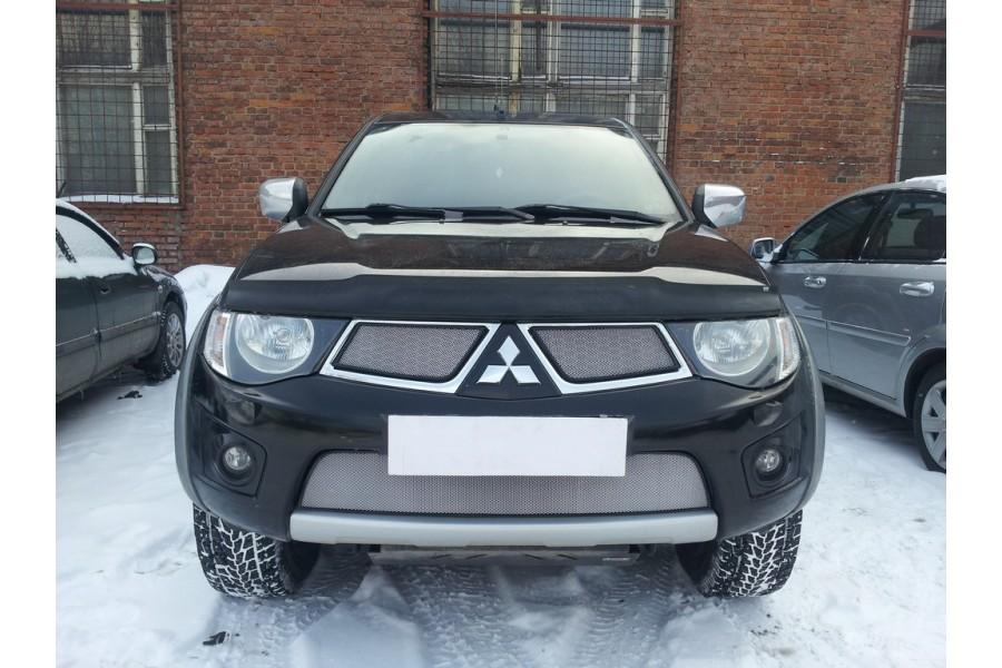 Защита радиатора Mitsubishi Pajero Sport 2008-2013 chrome низ