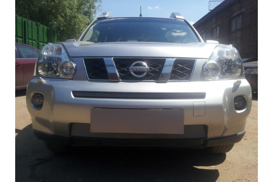 Защита радиатора Nissan X-Trail T31 2007-2011 chrome середина