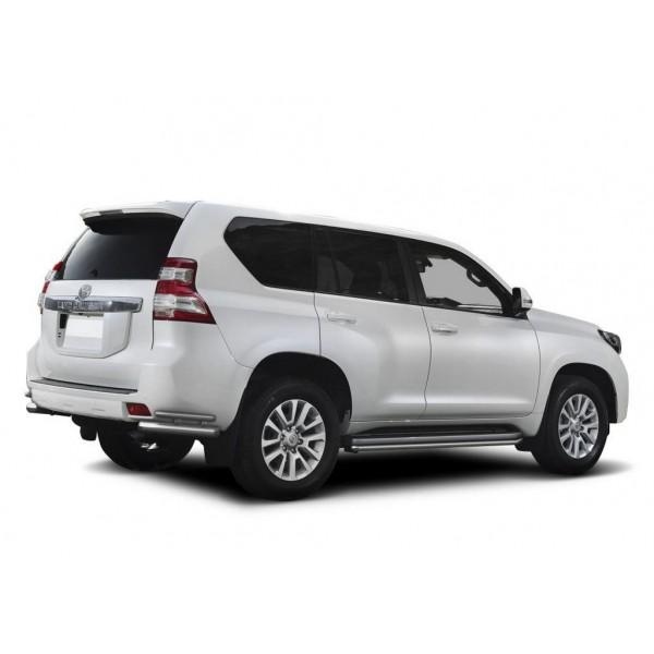 Защита заднего бампера d76+d42 уголки Toyota Land Cruiser Prado 2009-2013-2017