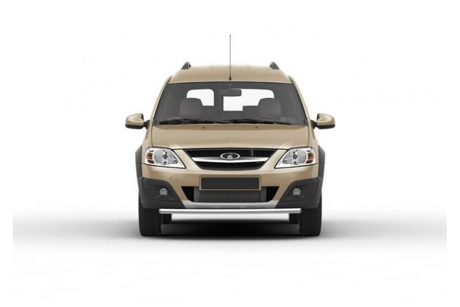 Защита переднего бампера d42 Lada Largus Cross 2014-