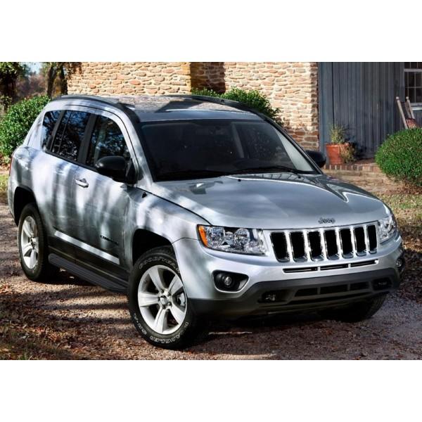 """Порог-площадка """"Premium-Black"""" Jeep Compass 2010-2013-2015"""