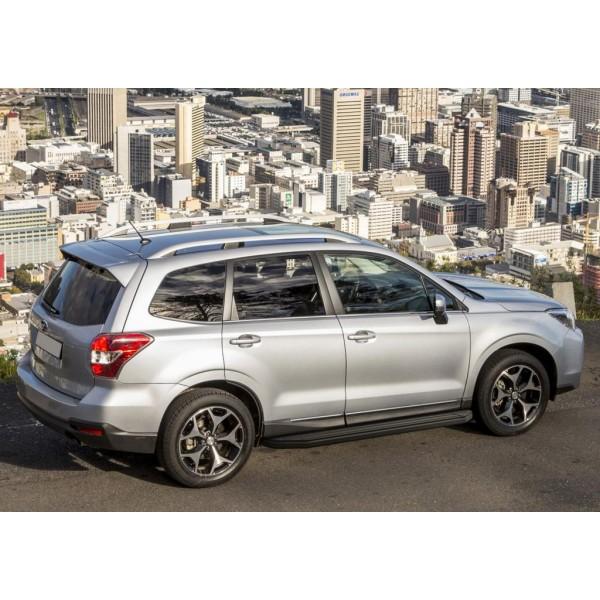 "Порог-площадка ""Premium-Black"" Subaru Forester 2013-2015-2018"