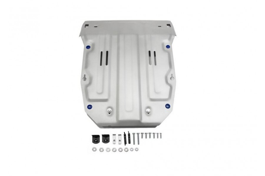 Защита картера Volkswagen Touareg, V - 3.0d (204л.с.); 3.6 2014-2018