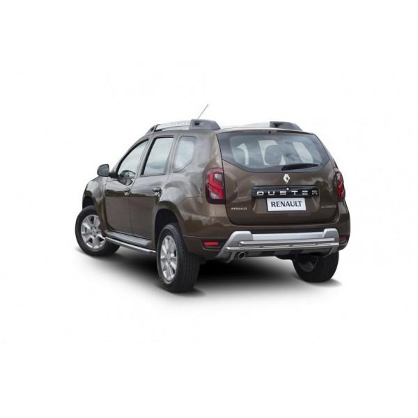Защита заднего бампера d42+d42 Renault Duster 2015-