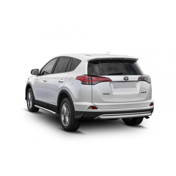 Защита заднего бампера d57 Toyota Rav 4 2015-2019