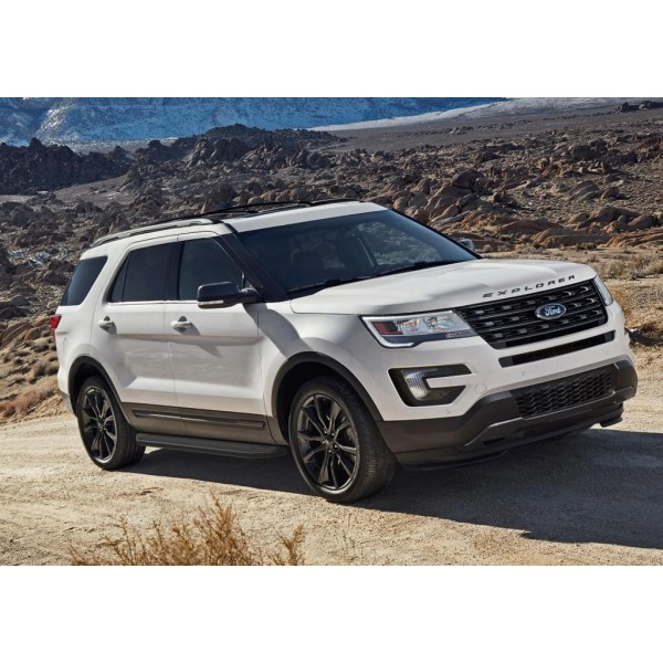 "Порог-площадка ""Premium-Black"" Ford Explorer 2011-2015-"