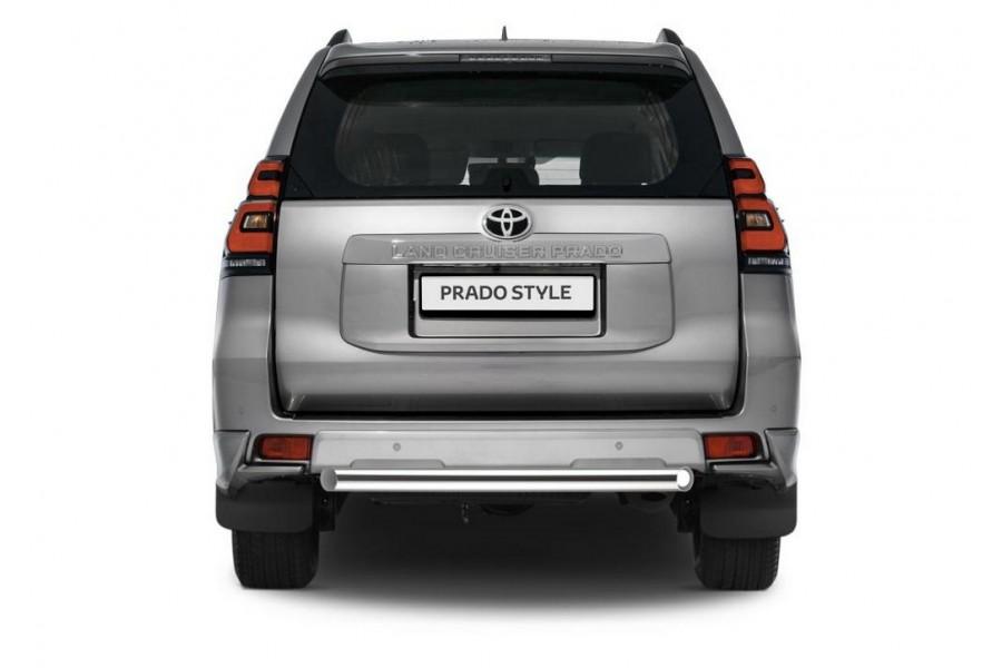 Защита заднего бампера d76 короткая Toyota Land Cruiser 150 Prado, кроме Style и TRD 2017-