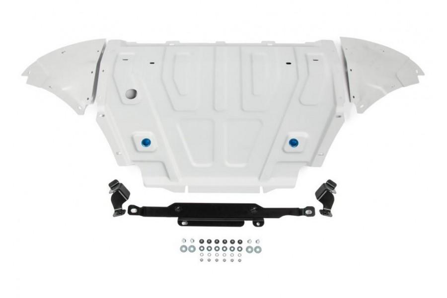 """Защита радиатора + картера Volkswagen Touareg, V - 3.0TDI (249 л.с.); 2.0TSI (249 л.с.); 3.0TSI (340 л.с.); включая пакеты """"Движение по бездорожью"""", """"Подвеска Pro"""" 2018-"""
