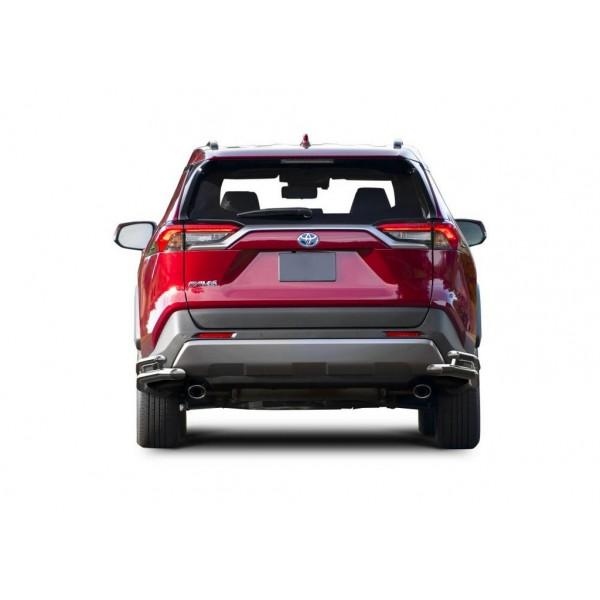 Защита заднего бампера d57+42 уголки, кроме MTR Toyota Rav 4 2019-