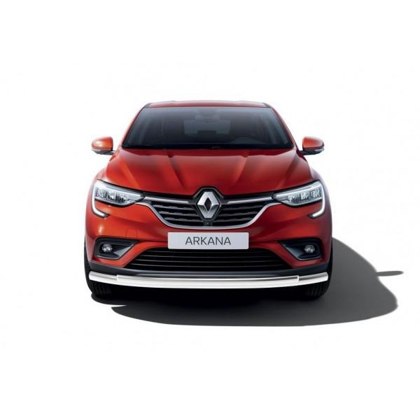 Защита переднего бампера d57+d42 Renault Arkana 2019-