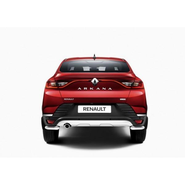 Защита заднего бампера d42 уголки Renault Arkana 2019-