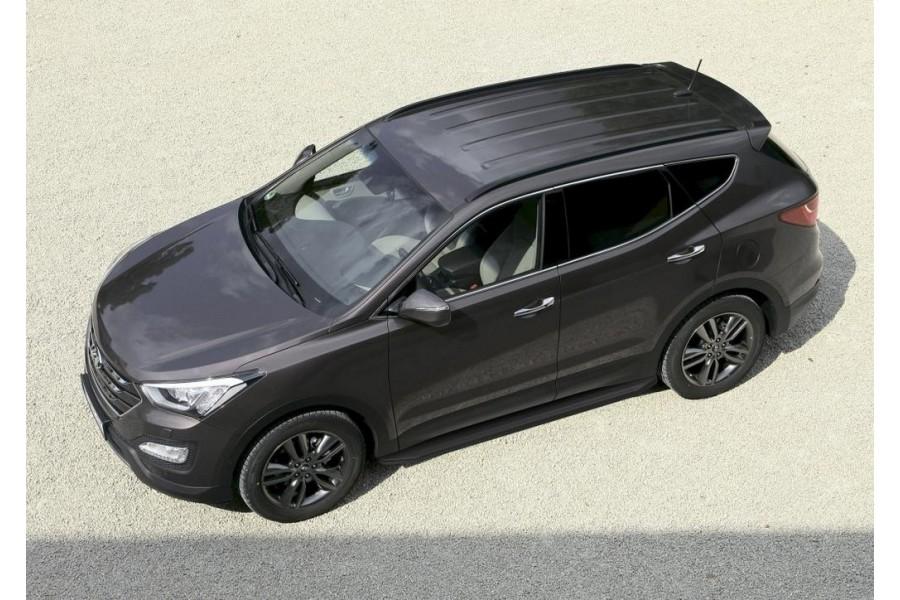 "Порог-площадка ""Premium-Black"" Hyundai Santa Fe 2006-2010-2012"