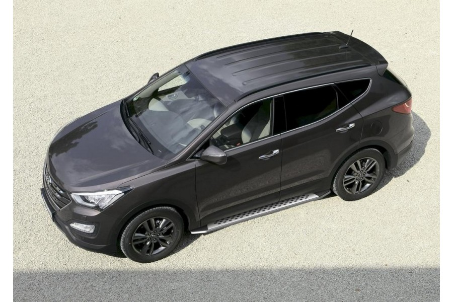 "Порог-площадка ""Bmw-Style"" Hyundai Santa Fe 2006-2010-2012"