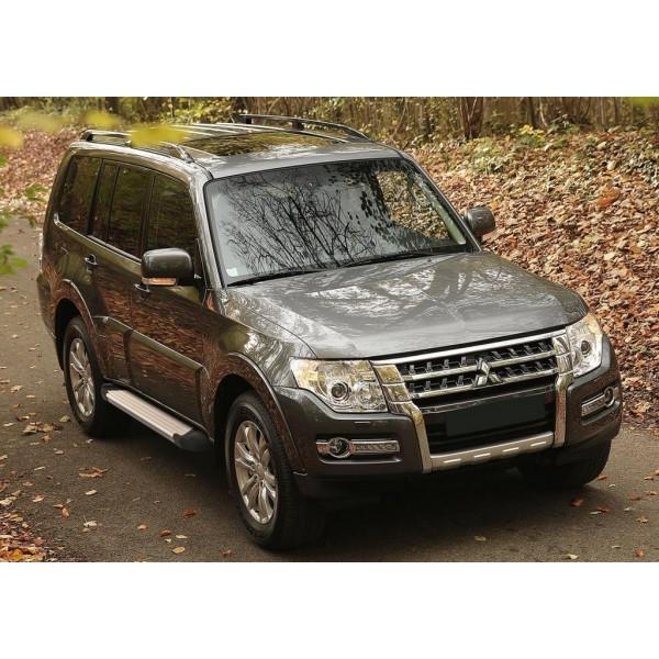 """Порог-площадка """"Silver"""" Mitsubishi Pajero IV 2006-2011-2014-"""
