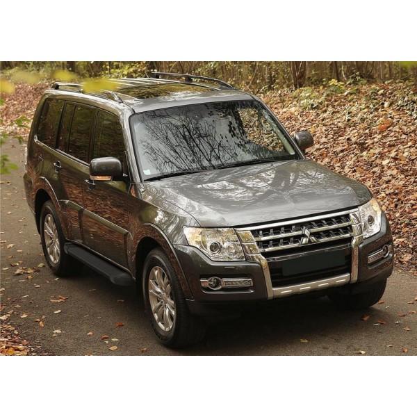 "Порог-площадка ""Black"" Mitsubishi Pajero IV 2006-2011-2014-"