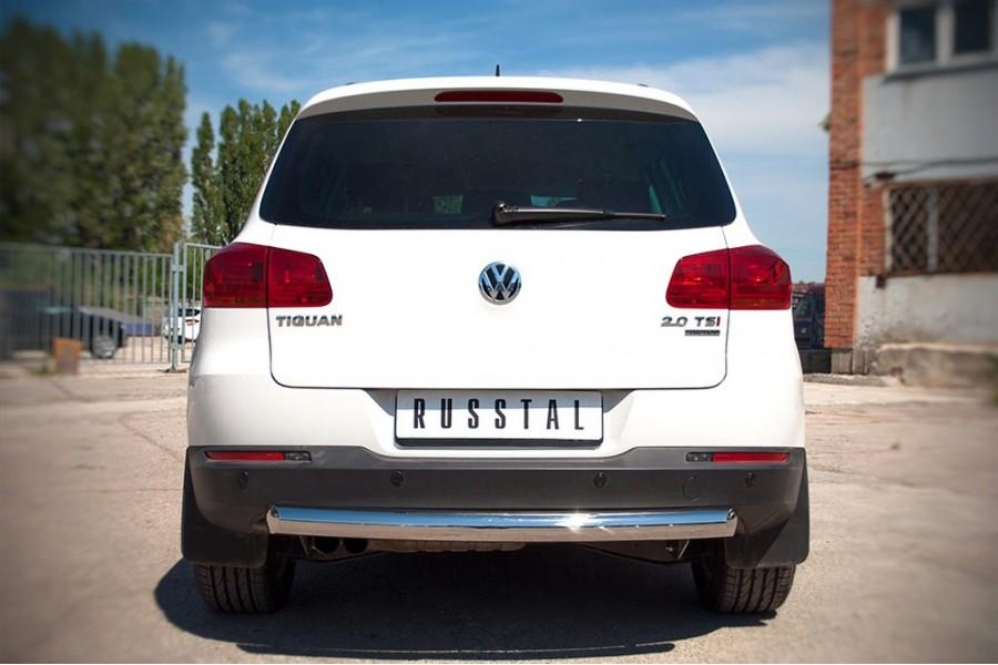 VolksWagen Tiguan Sport & Style 2011-2016 Защита заднего бампера d76