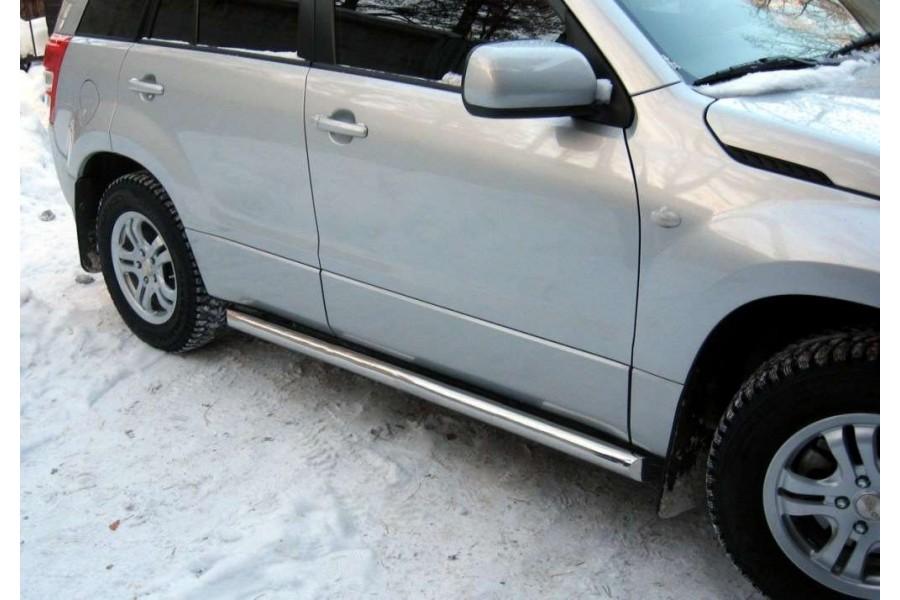 Toyota RAV 4 2009 (обычная база) Пороги труба d76 (вариант 1) TRT-0001501