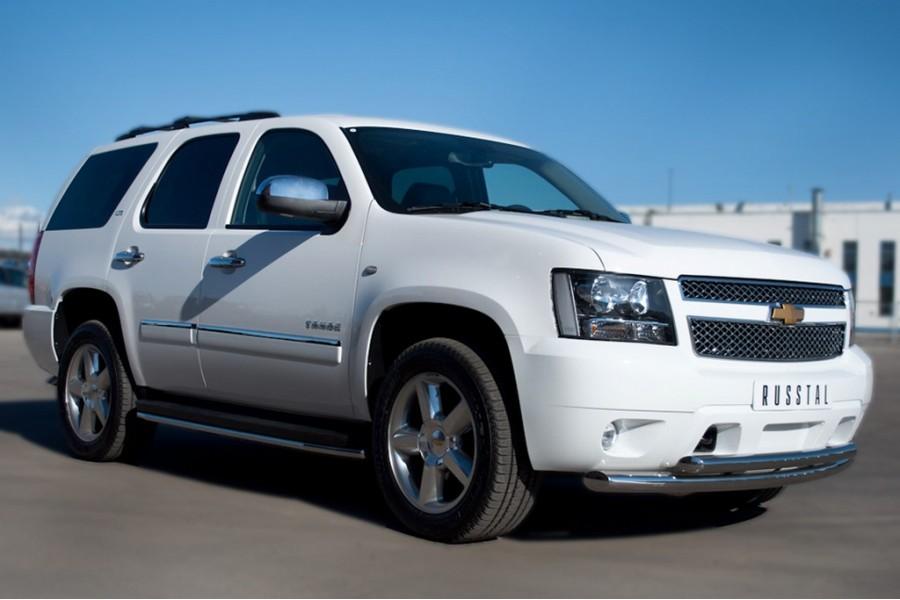 Chevrolet Tahoe 2012-2014 Пороги труба d42 CTHТ-000930