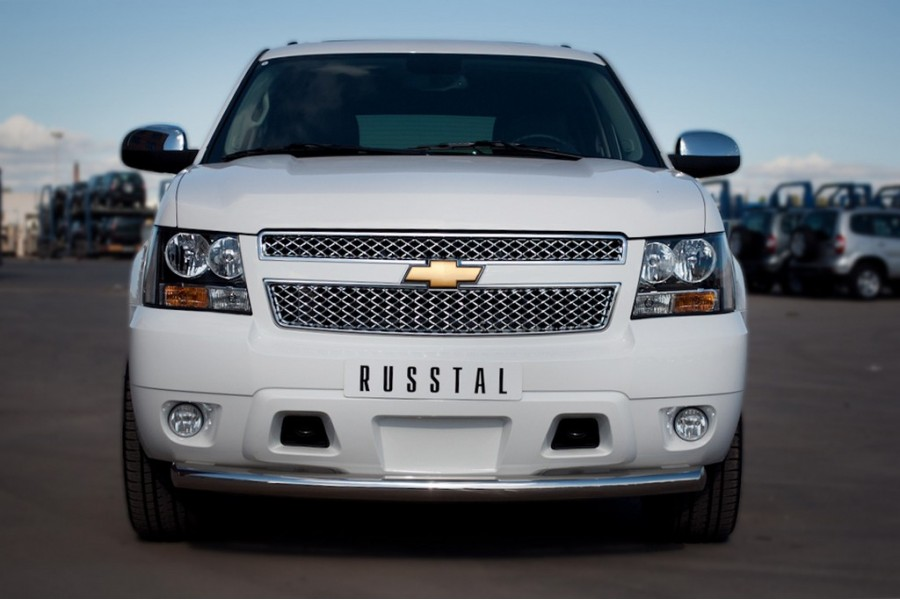 Chevrolet Tahoe 2012-2014 Защита переднего бампера d76