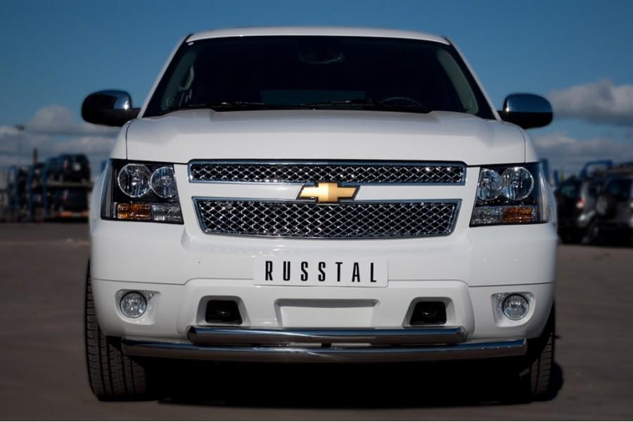 Chevrolet Tahoe 2012-2014 Защита переднего бампера d76/63