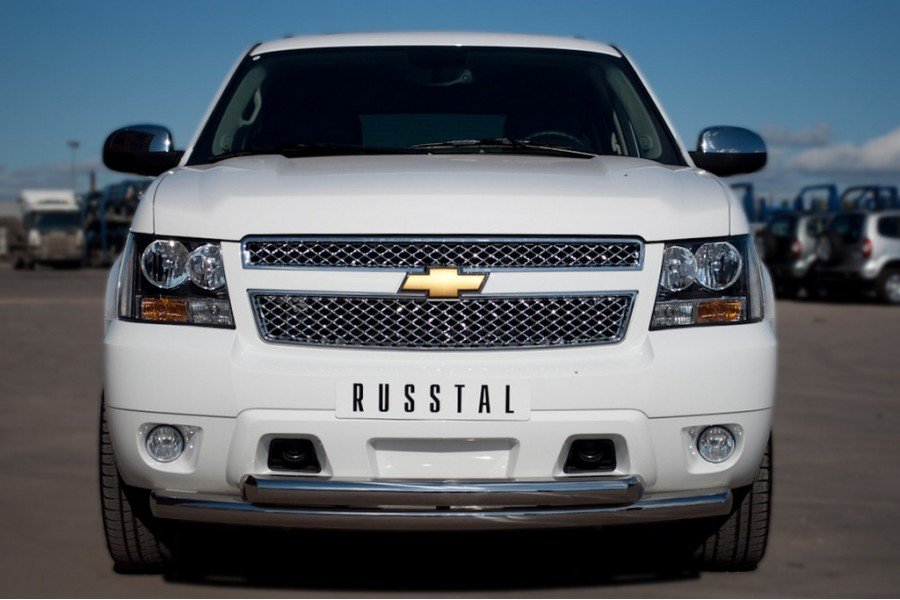 Chevrolet Tahoe 2012-2014 Защита переднего бампера d76/76