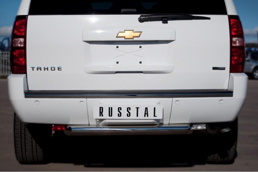 Chevrolet Tahoe 2012-2014 Защита заднего бампера d76
