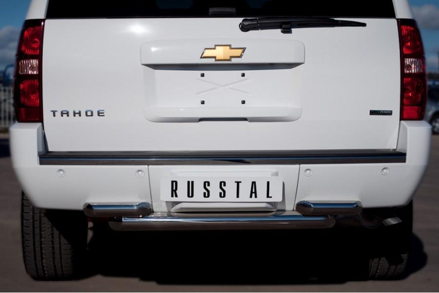Chevrolet Tahoe 2012-2014 Защита заднего бампера d76/63