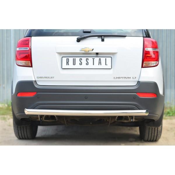 Chevrolet Captiva 2013-2016 Защита заднего бампера d63(дуга)