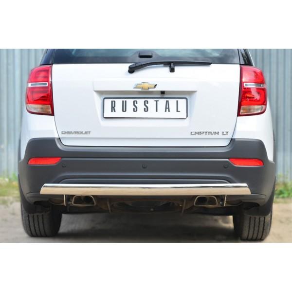 Chevrolet Captiva 2013-2016 Защита заднего бампера d75х42(дуга)