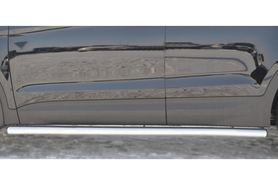 HYUNDAI Santa Fe 2009-2011 Пороги труба d63 (вариант 3)