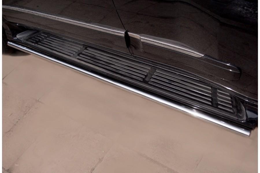 Lexus GX460 2009-2012 Пороги труба d42 (вариант 1) GХТ-0008061