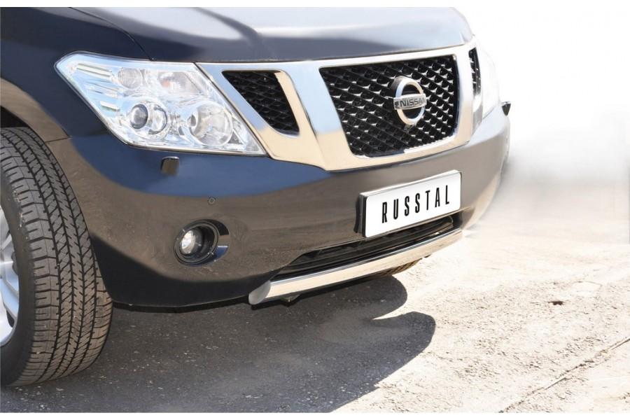 Nissan Patrol 2010-2013 Защита переднего бампера d75х42