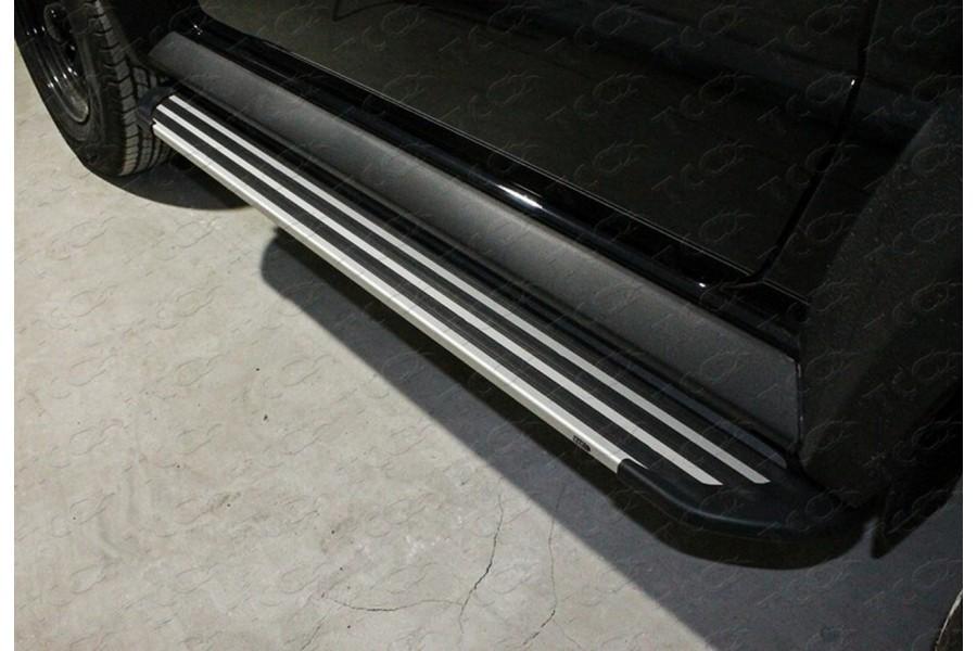 Пороги алюминиевые ''Slim line Silver'' 1350 мм