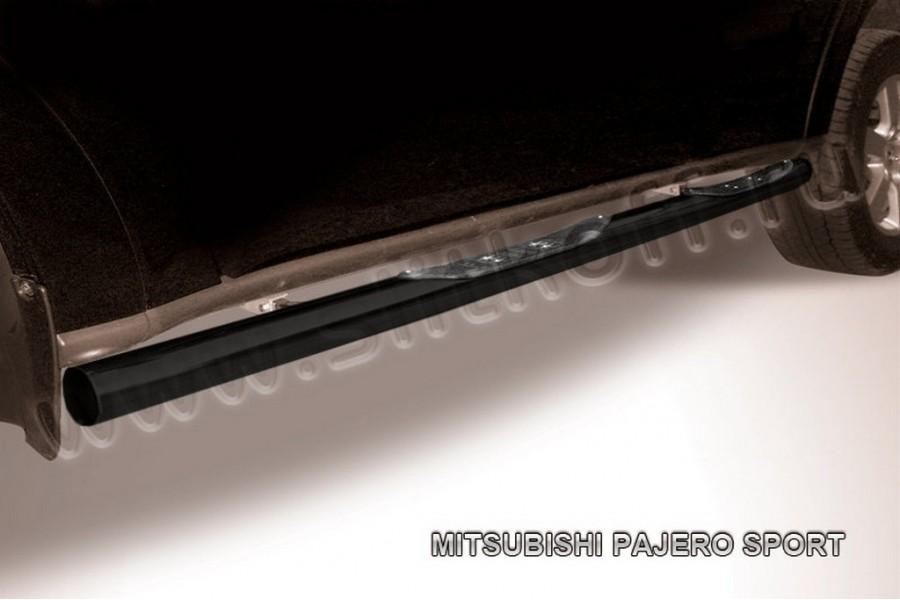 Защита порогов d76 с проступями (черное или серебристое покрытие)