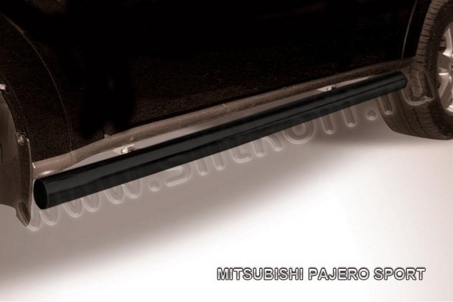Защита порогов d76 труба (черное или серебристое покрытие)